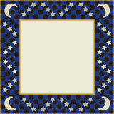Moon and Stars Square Frame Royalty Free Stock Photography