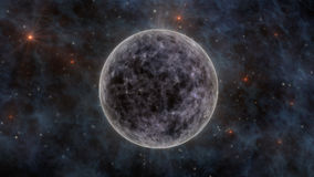 The Moon, Stars, Stardust In Space 3D Rendering Royalty Free Stock Photo