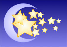 Moon and Stars royalty free stock photo
