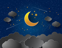 Moon and stars. Stock Photography