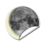 Moon sticker Royalty Free Stock Photos