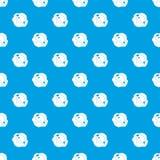 Moon stone pattern seamless blue Stock Photos