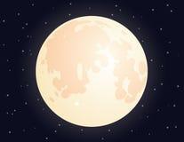 Moon sul fondo stellato del cielo per la vostra progettazione Fotografia Stock Libera da Diritti