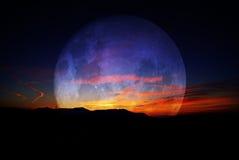Moon & Sun Stock Photos