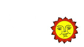 Moon And Sun cartoon, isolated on white background. stock video footage