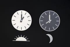 Moon & Sun clocks Royalty Free Stock Image