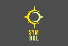 MOON-SUN ILLUSTRATION. A nice Yellow/Pale Yellow symbol illustration Royalty Free Stock Images