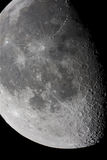 Moon surface. Close view of the moon, taken using a great telescope Stock Images