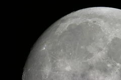 Moon surface. Fragment of a moon surface Royalty Free Stock Photo