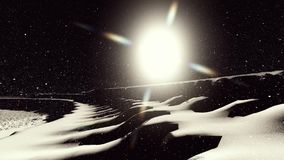 Moon surface or alien planet with craters 3d rendering stock video footage