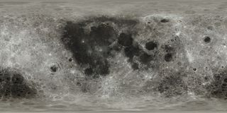 Free Moon Surface Map Royalty Free Stock Images - 160641799