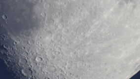 Moon surface Moons surface showing the effects of Earths atmosphere on the view. stock footage