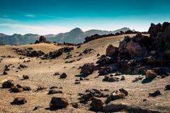 Moon surface of Teide National par on Tenerife island, Spain Royalty Free Stock Photos