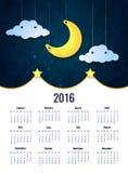 Moon. Sweet dreams wallpaper. Stock Photos