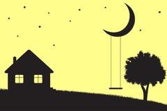 Free Moon Swings Royalty Free Stock Photo - 39030535