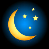 Moon symbol Royalty Free Stock Photography