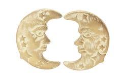 Moon Symbols. On White Background Royalty Free Stock Photo