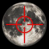 Moon target Stock Photo
