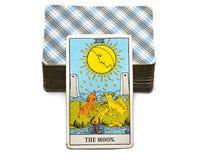 The Moon Tarot Card Dreams, nightmares, illusion, hidden things royalty free illustration