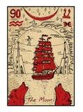 The Moon. The tarot card Stock Photography