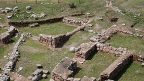 Moon Temple Ruins at Sacred Valley in Cusco, Peru stock video