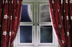 Free Moon Through A Window Stock Photo - 27612850