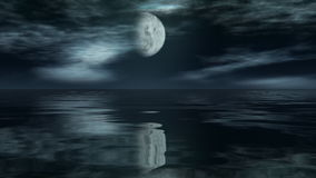Moon time lapse with reflection over ocean, stock footage Stock Photography
