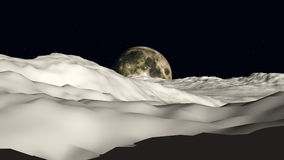 Moon To Moon View Royalty Free Stock Images