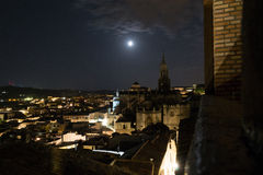 Moon in Toledo Stock Photography