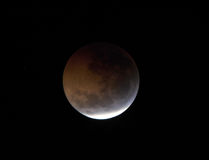 Moon,total lunar eclipse seen from Utila, Honduras Stock Photography