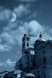 Moon and tower Royalty Free Stock Photo