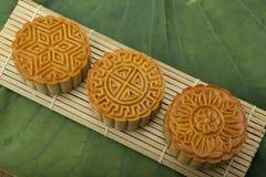 Moon traditionellen Kuchen des Kuchens des Vietnamesen - chinesisches mittleres Herbstfestivallebensmittel Lizenzfreie Stockfotografie