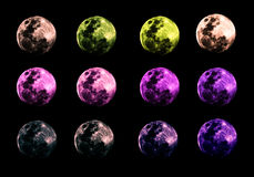 The moon is transformed by a mysterious, mysterious concept. The moon is color coded so that it can be used as appropriate. The isolated background can be used Stock Photo