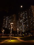 Moon in Tsing Yi Royalty Free Stock Photo