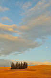 Moon in Tuscany Stock Photo