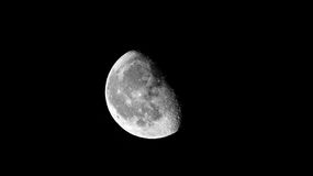 Moon - two thirds. 13 Aug 2017 royalty free stock photos