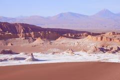 Moon valley in Atacama desert Stock Images