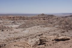 Moon valley, chile. Moon valley, atacama desert in chile stock photography