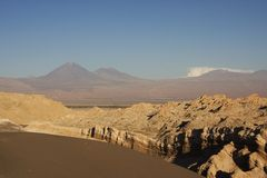 Moon valley, chile. Moon valley, atacama desert in chile royalty free stock photo