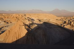Moon valley, chile. Moon valley, atacama desert in chile royalty free stock photos