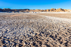 Moon Valley Crater in the Atacama Desert, Chile Royalty Free Stock Image