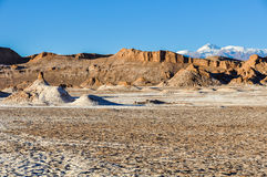 Moon Valley Crater in the Atacama Desert, Chile Royalty Free Stock Photos