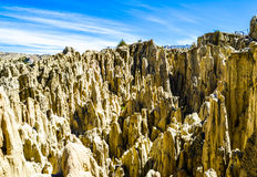 Moon Valley, La Paz, Bolivia. Remains of mountains that have been eroded by centuries of wind and weather Stock Photo