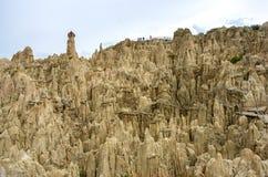 Moon Valley in La Paz, Bolivia royalty free stock image