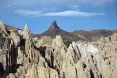 Moon Valley and Muela Del Diablo peak, Bolivia Royalty Free Stock Photography