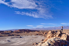 Moon valley. Nice view of the Moon Valley in the Atacama desert Stock Photo