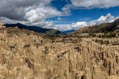 Moon Valley  Valle de la Luna in La Paz, Bolivia Stock Photography
