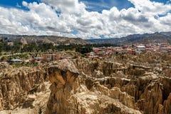 Moon Valley  Valle de la Luna in La Paz, Bolivia Royalty Free Stock Photos
