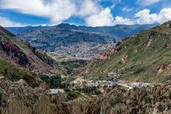 Moon Valley  Valle de la Luna in La Paz, Bolivia Royalty Free Stock Photography