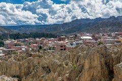 Moon Valley  Valle de la Luna in La Paz, Bolivia Royalty Free Stock Photo